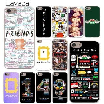 Lavaza Friends Season TV Hard Phone Cover Case for Apple iPhone 10 X 8 7 6 6s Plus 5 5S SE 5C 4 4S Coque Shell