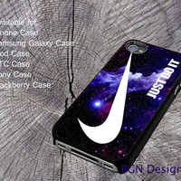 Blue Galaxy Nebula Just Do it For iPhone 4/4S/5/5S/5C, Samsung Galaxy S3/S4, htc One X/x+/S Case, iPod Touch 4/5, Blackberry Case, Sony Case