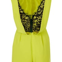 Petite Lace Back Playsuit - New In This Week  - New In