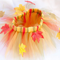 Thanksgiving fall tutu skirt with matching headband size 3-9 months/ Autumn tutu skirt with hair band/ Girls fall tutu photo props