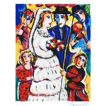 Music at the Wedding - Limited Edition Serigraph on Paper by Zamy Steynovitz (1951-2000)