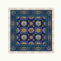 Tiles and stone mosaic wall art decor, Traditional Islamic art, ready to hang