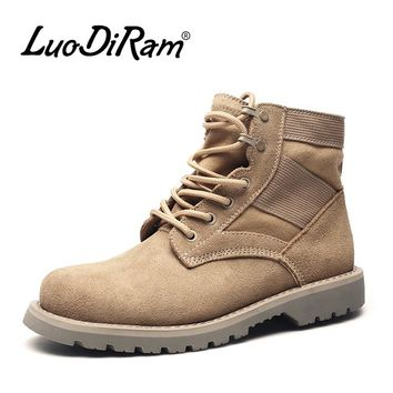 Leather Men Military Boots Men Work Boots Cool Men Boots