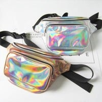 Holographic Waterproof Harajuku Waist Bag