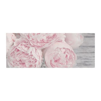 "Suzanne Harford ""Pink Peony Flowers"" Floral Photography Bed Runner"