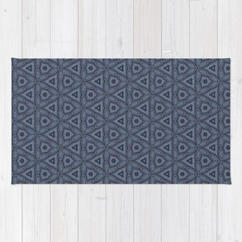 Triangle Blue Rug by Scott Hervieux