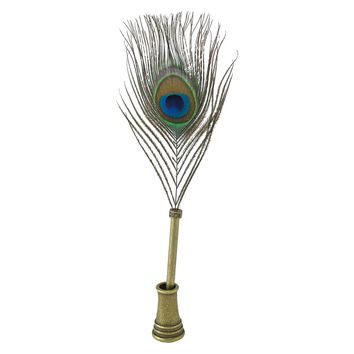 Peacock Quill Pen & Stand