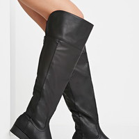 Over-the-Knee Faux Leather Boots
