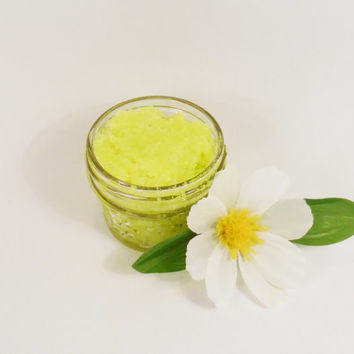 Foot scrub, sea salt foot scrub, peppermint foot scrub, natural foot scrub, handmade foot scrub, exfoliating sea salt scrub, bath and body