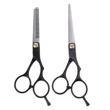 2PCS 6 Inch Hairdressing Scissors Professional Barber Hair Cutting Straight Thinning Scissors Stainless Steel Hairdresser Shears