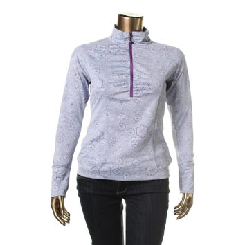 Soybu Womens Printed Eco Inspired 1/4 Zip Pullover