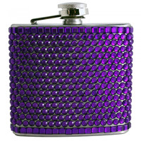 Purple Rhinestone Stainless Steel Flask - 5 oz. Your favorite online gift shop!