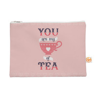 "Daisy Beatrice ""My Cup of Tea"" Pink Purple Everything Bag"