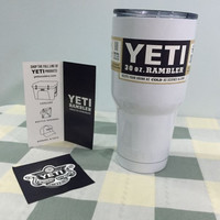 30 oz YETI Tumbler Rambler Cups White Yeti Coolers Cup Yeti Sports Mugs Large Capacity Stainless Steel Travel Mug With Logo