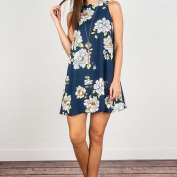 More Than Ever Dress, Navy
