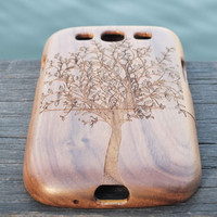 Peaceful tree wood case for Samsung Galaxy S5 ,Galaxy S4,Galaxy S3,wood samsung Galaxy S5 case,Note2 case,Note3 case ,wood phone case