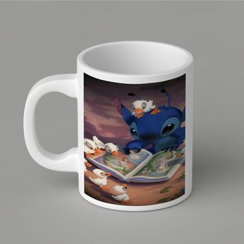 Gift Mugs | Disney Stitch And Duck Ceramic Coffee Mugs