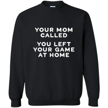 ultimate frisbee shirt funny - your mom called ... Printed Crewneck Pullover Sweatshirt