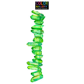 Fluorescent Green Rock Crystal Quartz Chip Bead Strand | Hobby Lobby | 1411933