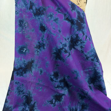 Made in Kenya--African Tie Dye Fabric--African Batik Fabric--Deep Purple and Navy Blue--African Fabric by the HALF YARD