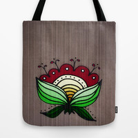 One Flower Tote Bag by DuckyB (Brandi)