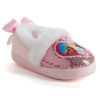 Disney's Princesses Toddler Girls' Sequin Slippers (Pink)