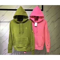 Champion Stylish Women Men Loose Embroidered Logo Hoodie Sport Sweater Couple Sweatshirt I-MG-FSSH