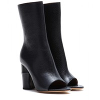 Zane open-toe leather boots