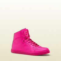 coda neon pink leather sneaker 323812DBL505616
