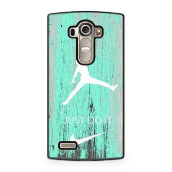 CREYUG7 Nike Jordan Mint Wood LG G4 case
