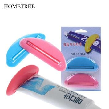 HOMETREE 2pcs New Toothpaste Squeezer Squeeze Tooth Paste Tube Dispenser Toothpaste Clip Cosmetics Cleanser Extruder Clamps H677