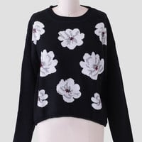 Backyard Oasis Floral Sweater