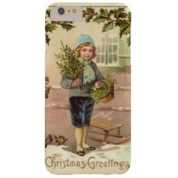 Vintage Art Victorian Boy Christmas iPhone case