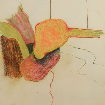 Abstract Color Pencil Drawing