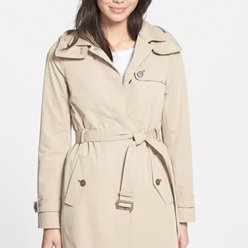 Women's Soia & Kyo Single Breasted Belted Long Trench Coat