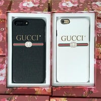 GUCCI Fashion iPhone Phone Cover Case For iphone 6 6s 6plus 6s-plus 7 7plus hard shell