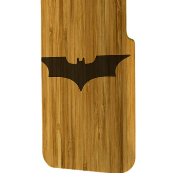 Best 3D Full Wrap Phone Case - Hard (PC) Cover with Wood sith batman logo Design