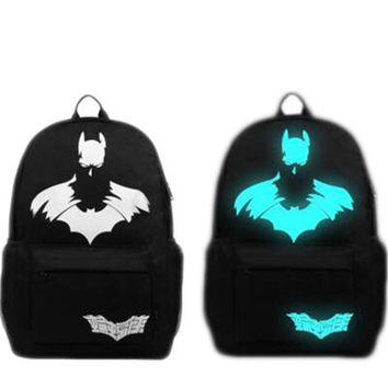 Batman Naruto Antman Transformers Backpack School Bag For Teenagers Women Cool Backpack Travel Packet For Male Black