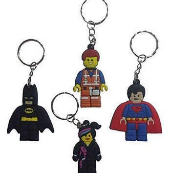 Lego Movie Keychains 4 Pcs Set #1