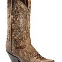Red Ranch Distressed Inlay Cowgirl Boots - Snip Toe - Sheplers