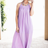 Lavender Strappy Maxi Dress