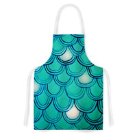 "Theresa Giolzetti ""Mermaid Tail"" Teal Blue Artistic Apron"