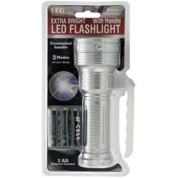 Extra Bright LED Flashlight with Handle ( Case of 4 )