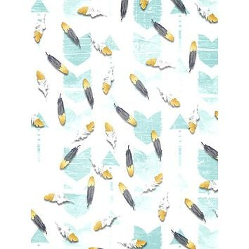 Arrows and Feathers Mint Backdrop  Photography Backdrop / 1469