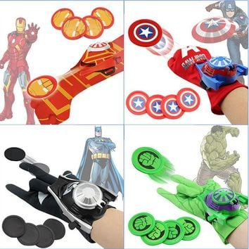 Deadpool Dead pool Taco 24cm Batman Glove Action Figure Spider Iron Man Hulk Captain American Launcher Toy Kids Suitable Spider Man Cosplay Costume toys AT_70_6