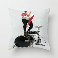 Ashton on teen now Throw Pillow by kikabarros