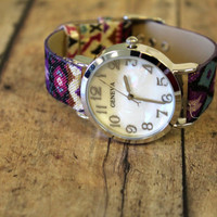 aztec purple Wrist watch accessorie jewerly
