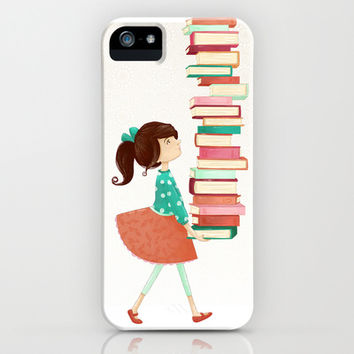 Library Girl iPhone & iPod Case by Stephanie Fizer Coleman