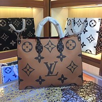 LV Louis Vuitton WOMEN'S MONOGRAM CANVAS ONTHEGO HANDBAG