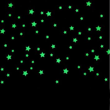 100PC Glow In The Dark Stars Wall Stickers